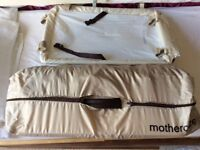 Mothercare travel cot. Excellent condition and complete with bassinet and change pad. Baby outgrown.