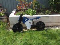 Kiddimoto blue-white bike for sale