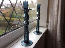 Lovely glass candlesticks.