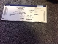 Morrissey tickets for metro arena 23 February 2018