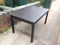 Dinning table black nice wood wooden dinning table large dinning room table black room table chairs