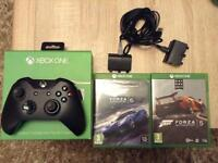 Xbox one wireless controller with 2 games and twin rechargeable battery pack