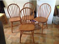 Pine chairs - set of 4