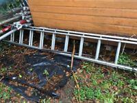 Double 24 tread aluminium ladders