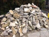 White Somerset Lias walling stone approx 3 tonnes