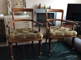 Oak Victorian chairs