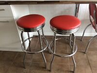 American bar stools. Very good condition.