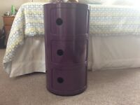 Purple bedside table / unit