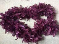 Feather purple boa
