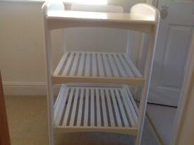 John Lewis white Baby changing unit with mat