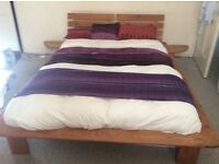 Wooden double bed frame,oriental style