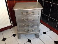Dunelm Toulouse shabby chic silver drawers