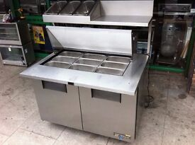 COMMERCIAL PIZZA SALAD TOPPING FRIDGE CATERING RESTAURANT KEBAB CHICKEN FAST FOOD TAKE AWAY SHOP