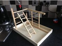 Budgie play gym/stand