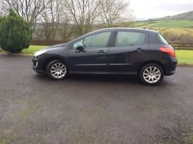 Sept 2009,Peugeot 308, Verve 16HDI, £30 year road tax