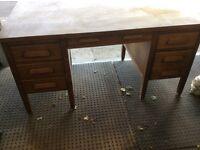 Antique headmaster desk