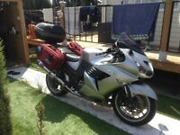 Kawasaki ZZR1400abs 2008 in Murcia region of Spain