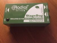 RADIAL SB-2 DI BOX,KEYBOARD,BASS,ACcoustic