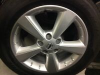 Nissan New Alloy wheel and tyre balanced and centre cap, size 215/60R17 96H