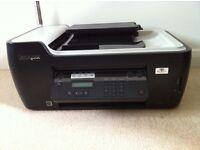 Wireless 4 in 1 Lexmark inkjet printer with new set of ink cartridges