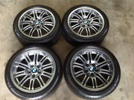 "18"" GENUINE BMW E46 M3/STYLE 67 WHEELS AND MICHELINS(330,325,323,328,335,318,316,320,D,CI,M SPORT)"