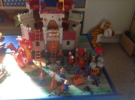 Imaginext Castle,dragon, battering ram, boulders, cannon, horse and knights