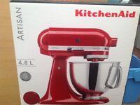 Artisan KitchenAid 4.8L mixer BNIB (perfect Gift) never used