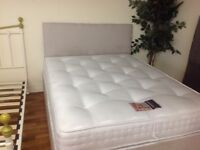 DOUBLE BED WITH LUXURY POCKET SPRUNG MATTRESS