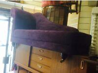 Purple chaise lounge