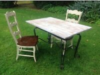 Conservatory Dining kitchen garden table two chairs