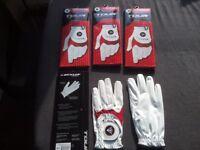4 RH Dunlop golf gloves, size M