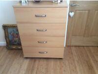 Wardrobe & matching chest of drawers