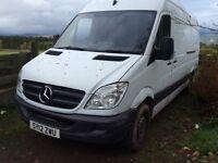 Mercedes sprinter 313 CDi LWB van 2012 ONLY £4250 NO VAT.