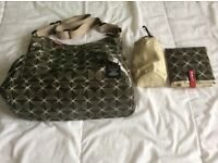 Babymel Green Changing Bag excellent condition