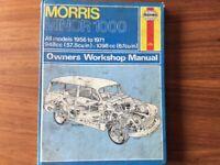 Morris Minor 1000 Workshop Manual