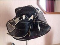 Black and cream hat