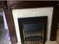 Fire surround complete with fire