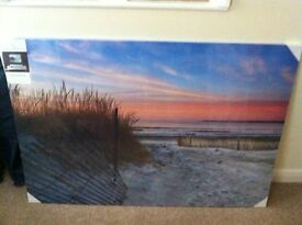 Canvas Wall Art picture of beach 118cm x 80cm