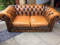 Chesterfield leather two seater by Thomas Lloyd