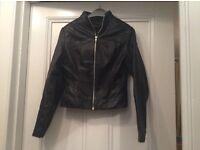 Leather jacket, size 8