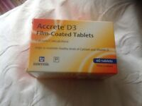 60 vitamin d3 and calcium tablets
