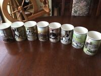 A rare collection of Border Fine Art mugs