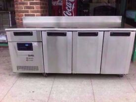BENCH CATERING 3 DOOR FASTFOOD COMMERCIAL FRIDGE MACHINE TAKEAWAY CANTEEN SHOP PUB RESTAURANT BAR