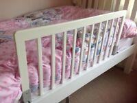 BabyDan white wooden bed guard rail white. John Lewis