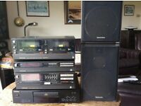 Technics stack music system incl 2 speakers