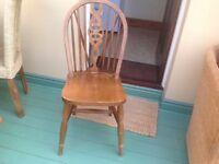 3 medium oak chairs