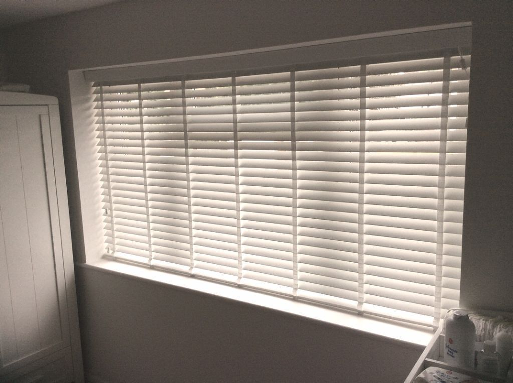 Brand new hillarys white wooden venetian blinds in Curtains venetian blinds