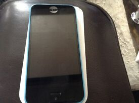 iPhone 5c,blue,on Vodafone with box,lead,plug.sorry no earphones