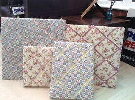 Shabby chic padded notice boards