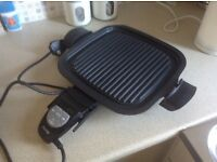 Electric health grill/griddle pan frying